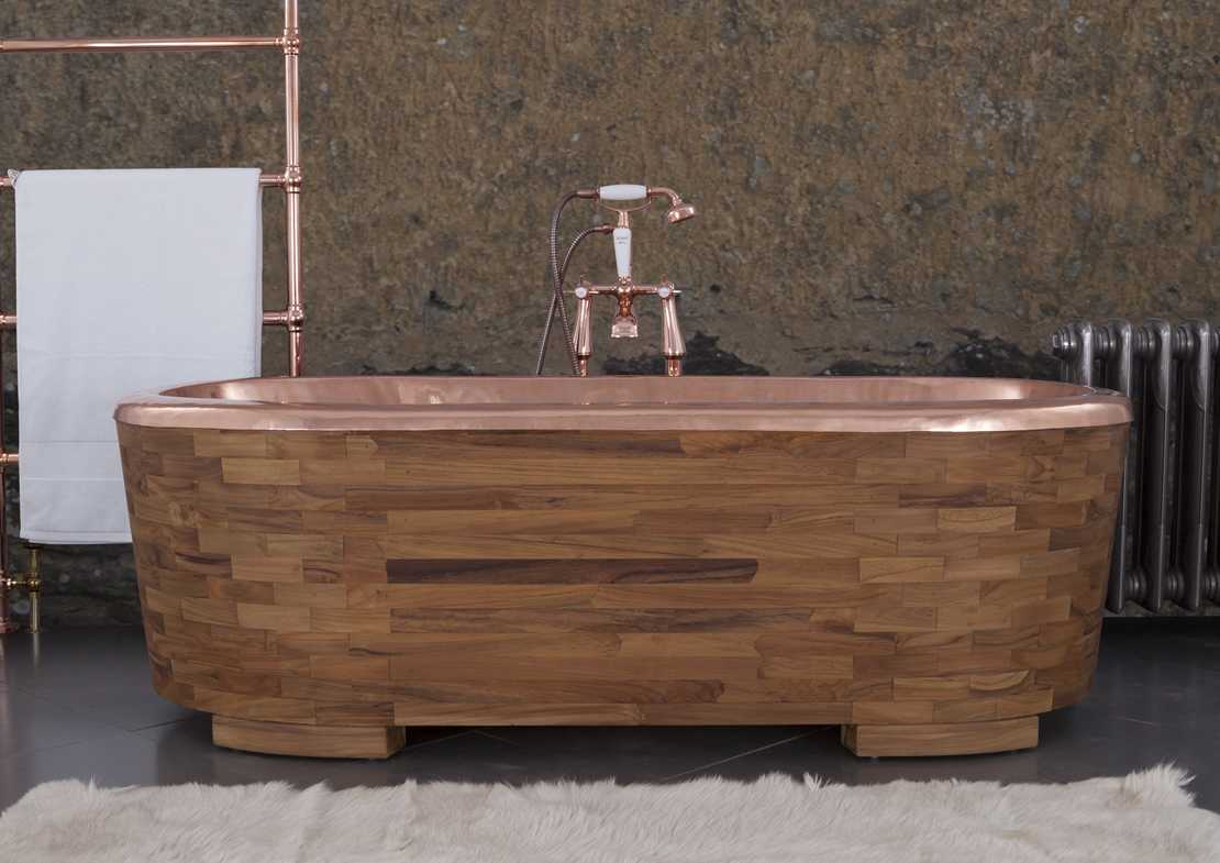 sampan copper teak exterior Thumb