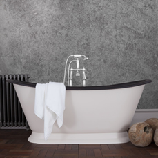 galleon cast iron bath leather roll top