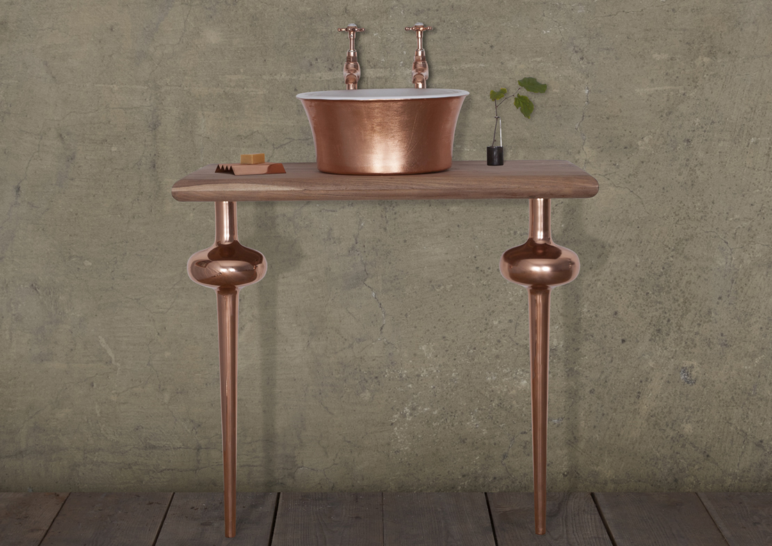 copper globe legs pair Thumb