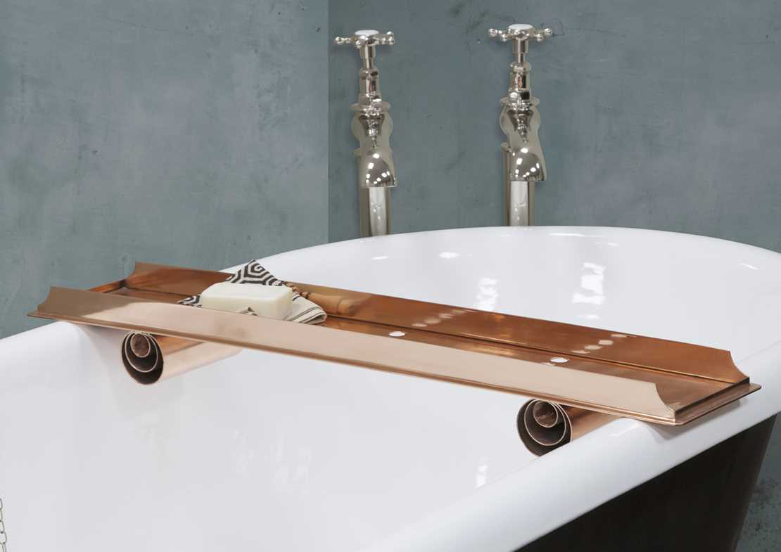 copper bath caddy copper