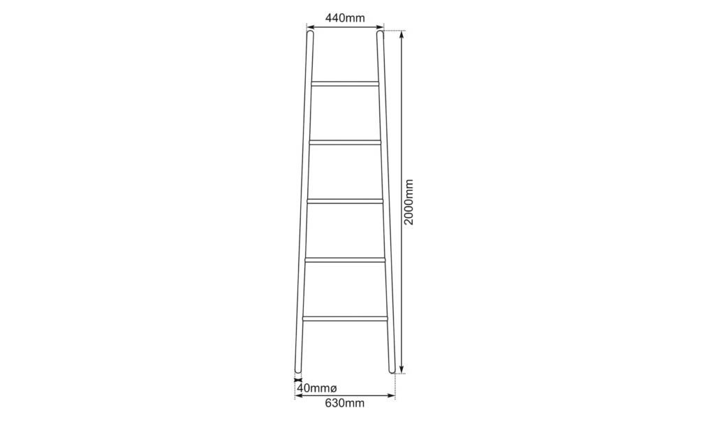 copper towel ladder dimensions