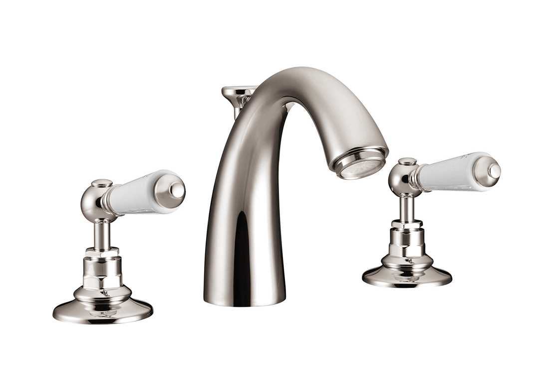 classical spout basin mixer taps nickel