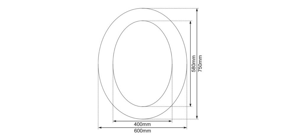 oval mirror dimensions