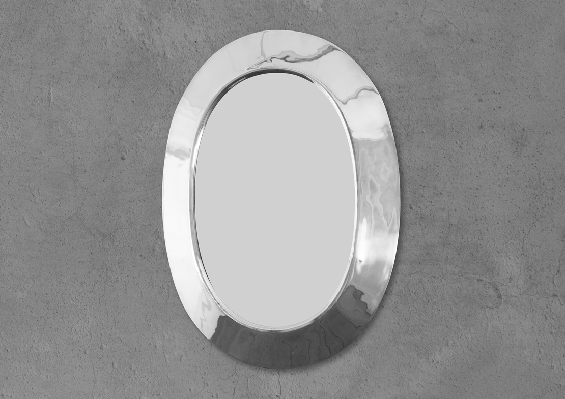 oval mirror nickel Thumb