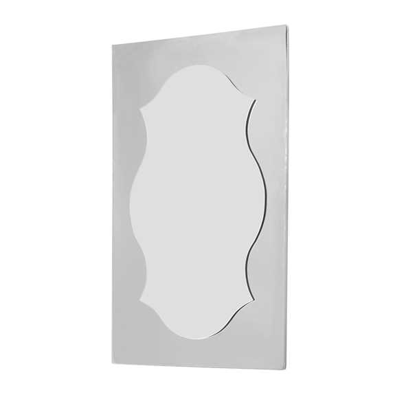 shaped mirror oblong frame