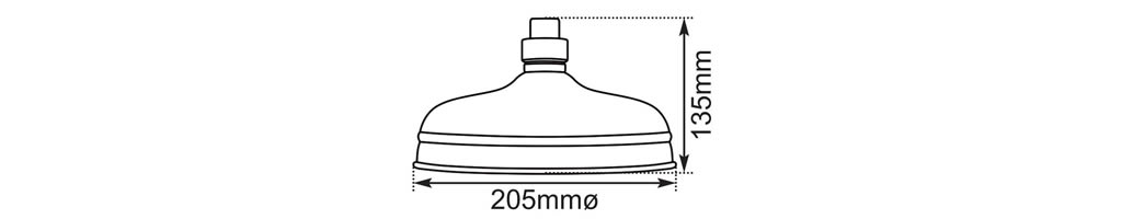 flat large shower head dimensions
