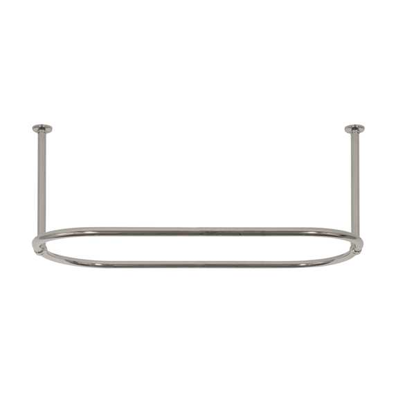 oval shower rail