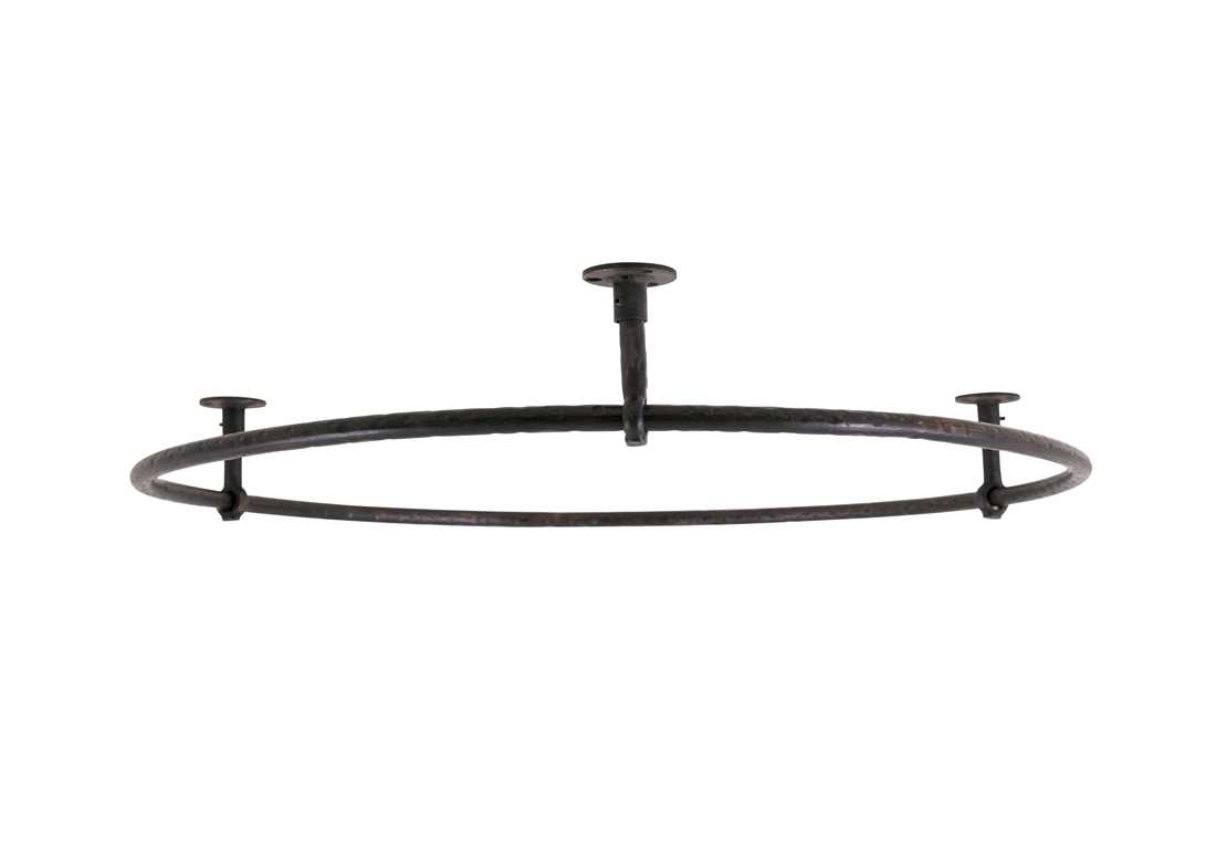 shower rail round small wrought iron