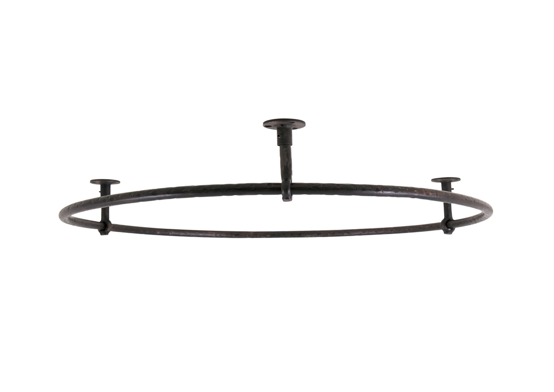 shower rail round large wrought iron Thumb