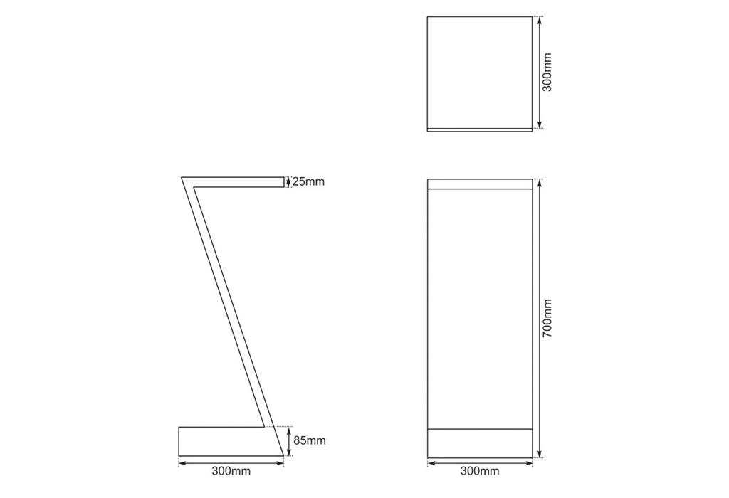 zed table dimensions