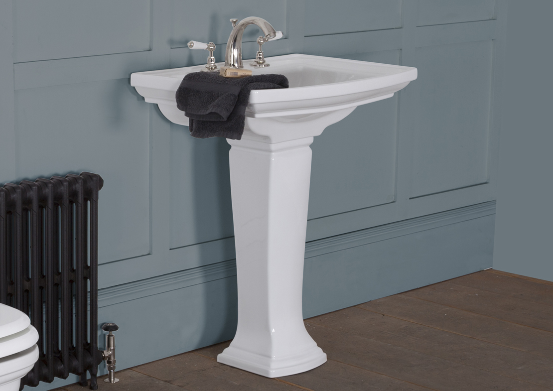 chichester wash basin white large Thumb