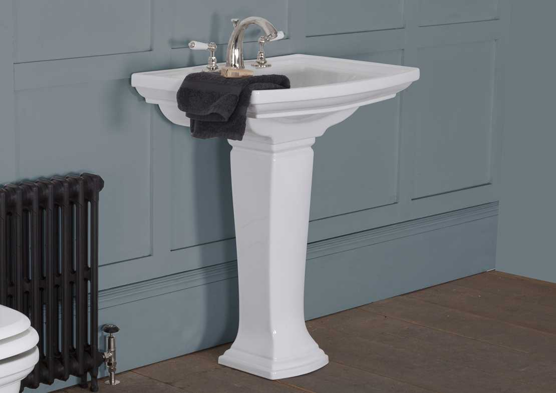 chichester wash basin white large