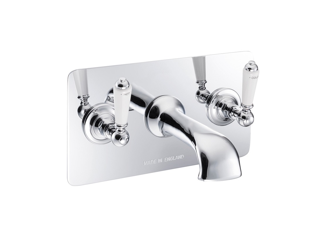 wall mounted bath filler concealed chrome Thumb