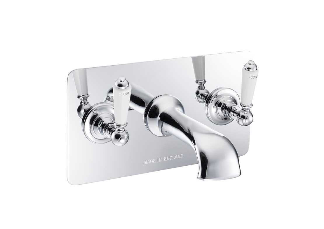 wall mounted bath filler concealed chrome
