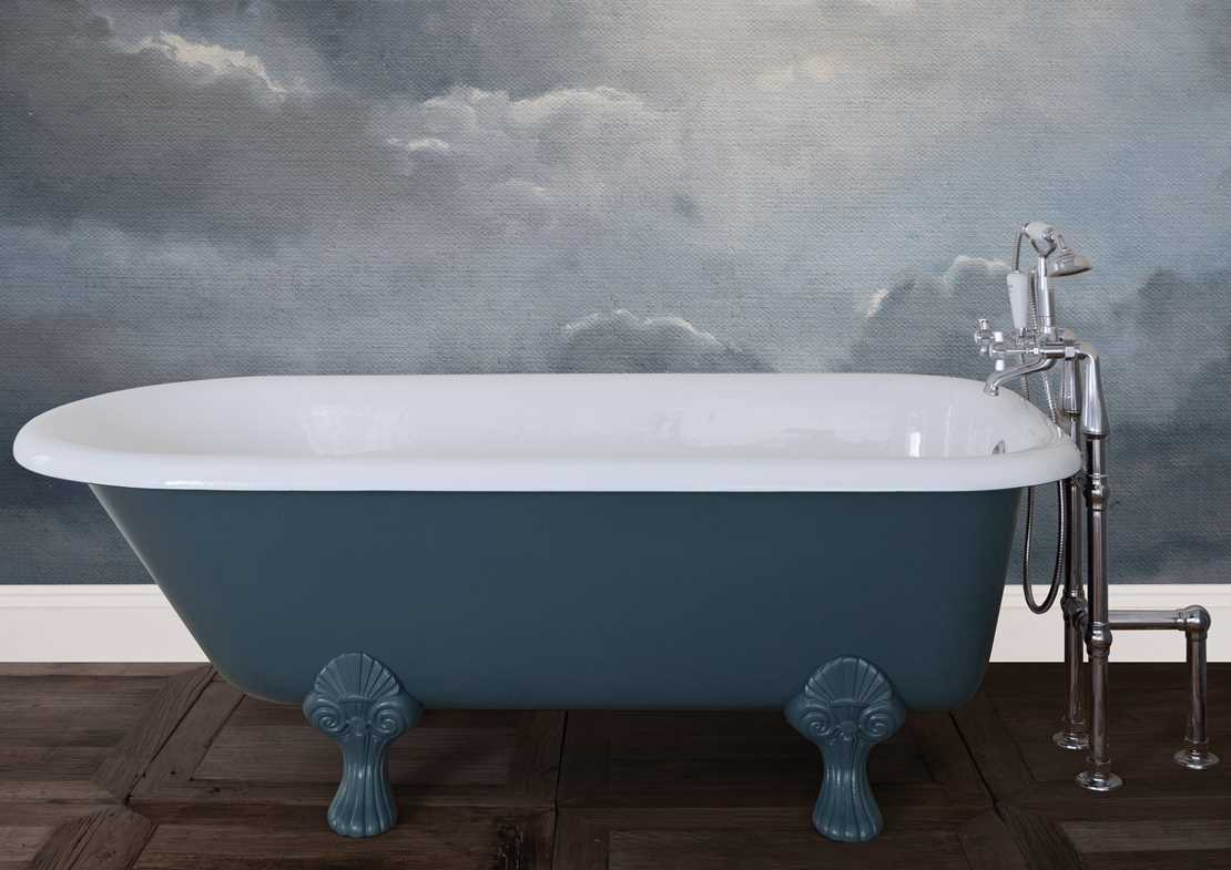 milton cast iron bath painted