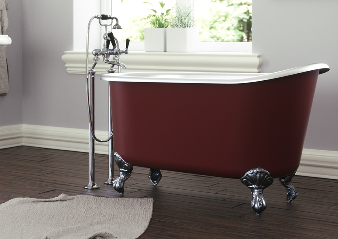 shelley cast iron bath painted Thumb
