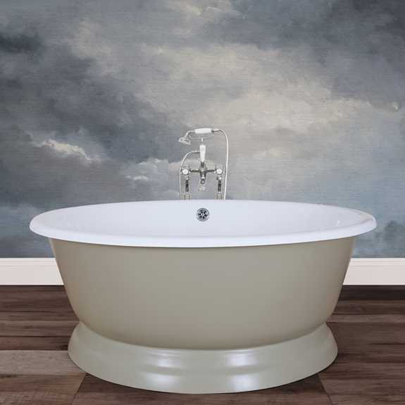 rossetti cast iron round bath tub