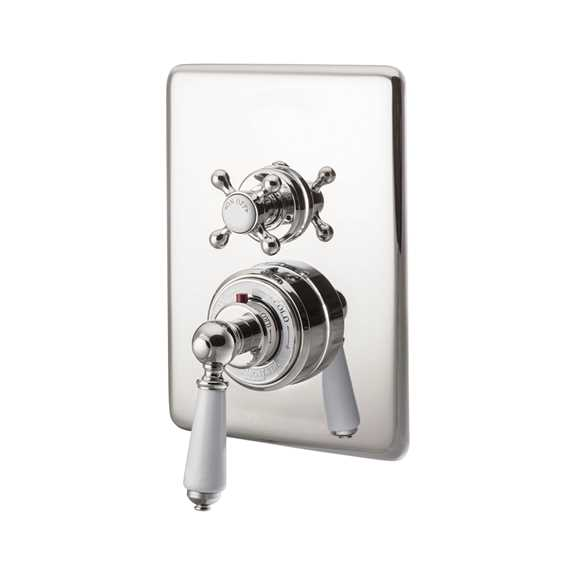 concealed thermostatic shower valve dual control single outlet