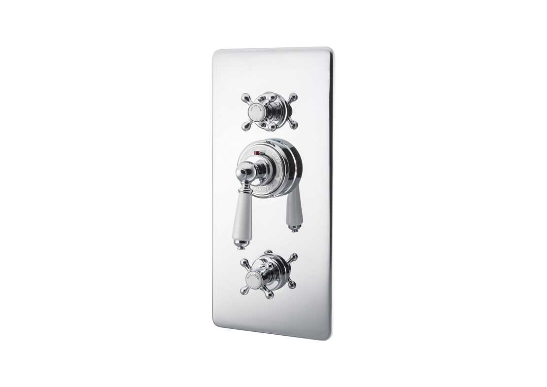concealed thermostatic shower valve lever chrome