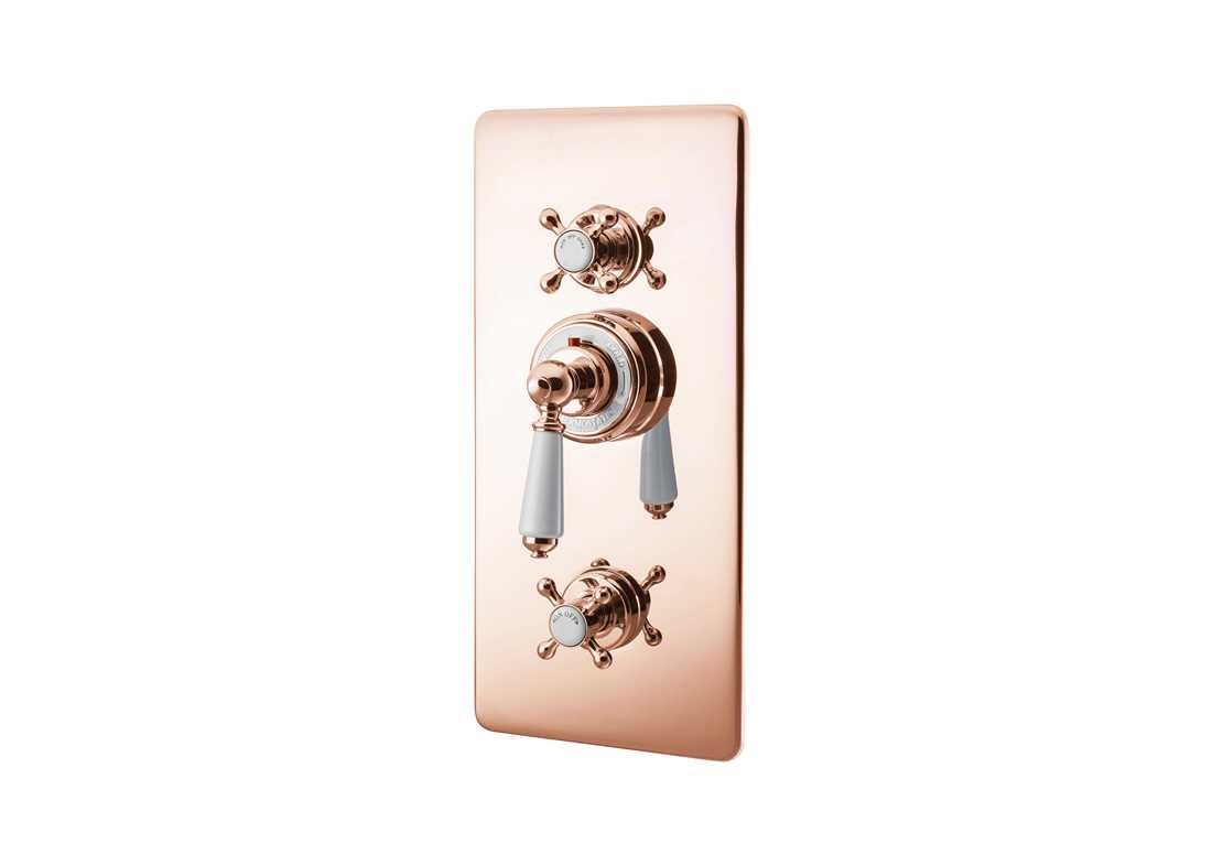 concealed thermostatic shower valve lever copper