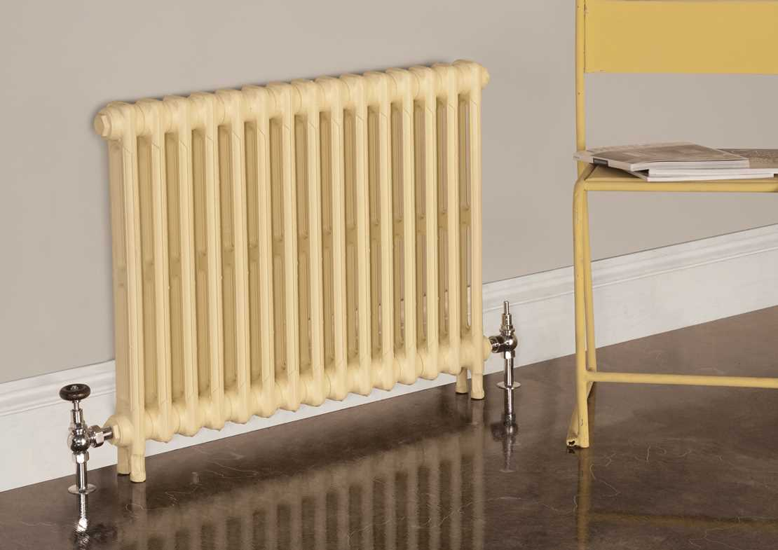 victorian 2 column cast iron radiator painted