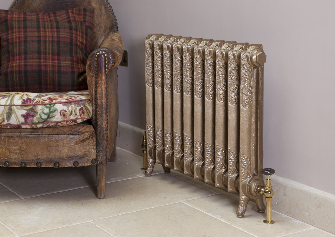 orford 1 column cast iron radiators painted Thumb