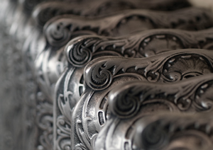 cast iron radiator hand burnished