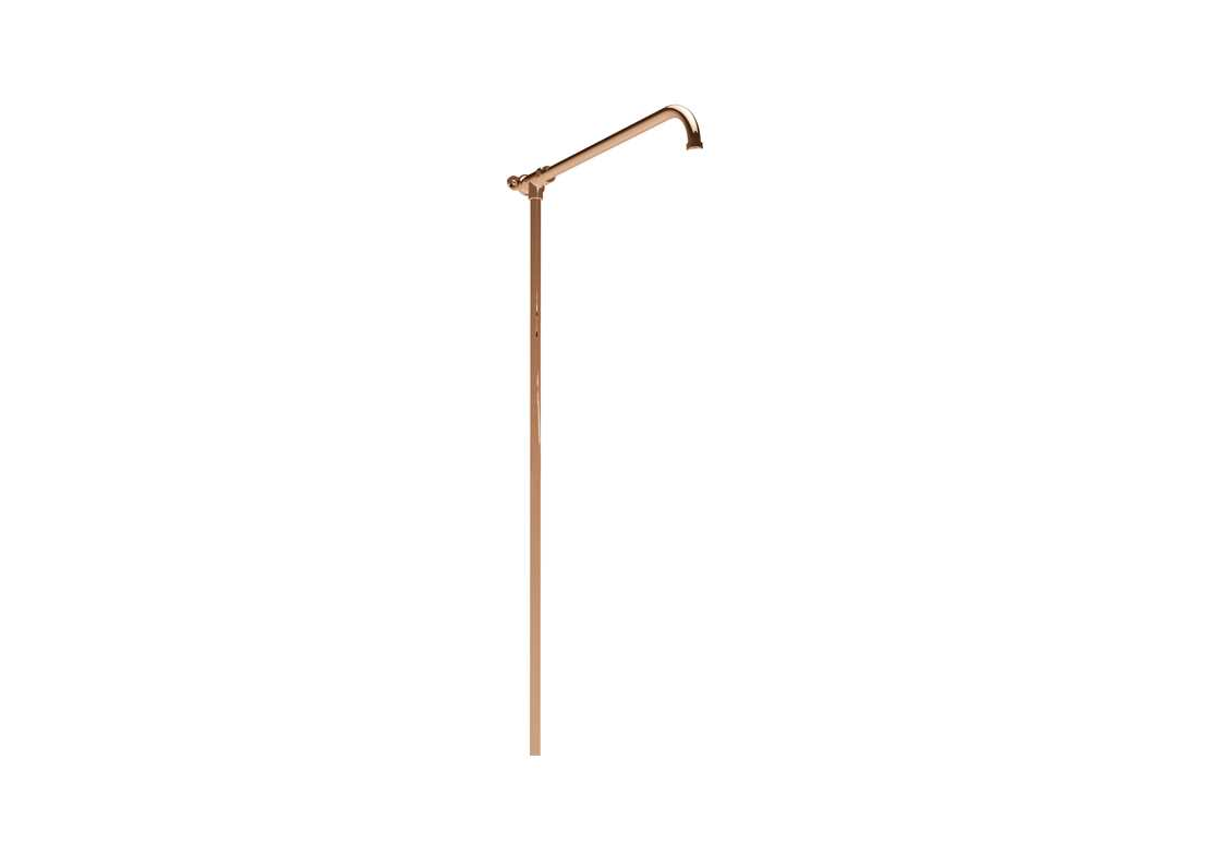 shower arm riser rail copper