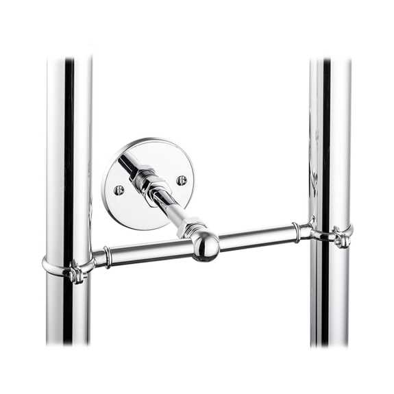 stand pipe support bracket chrome