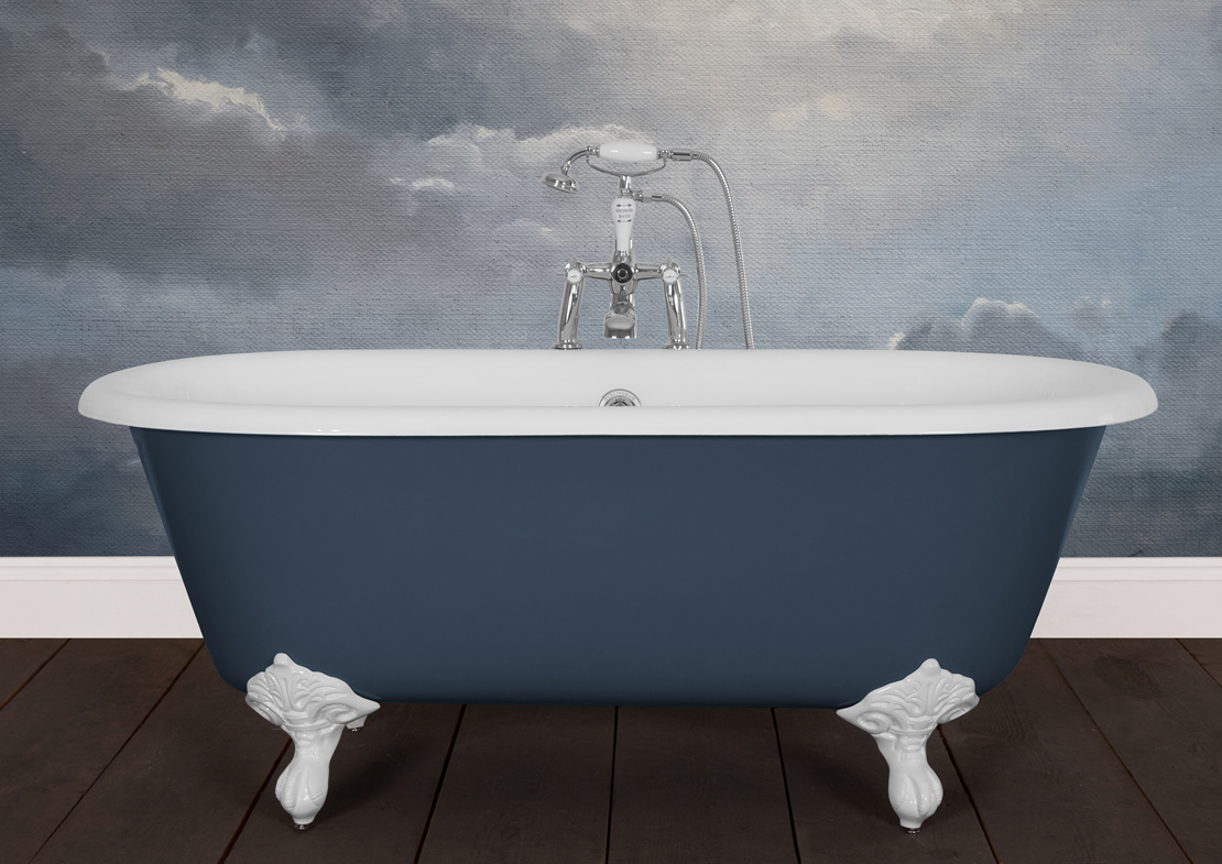 dryden small cast iron bath painted Thumb