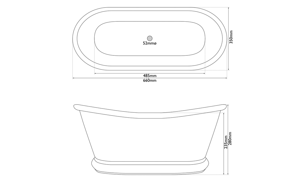 brass bulle basin measurements