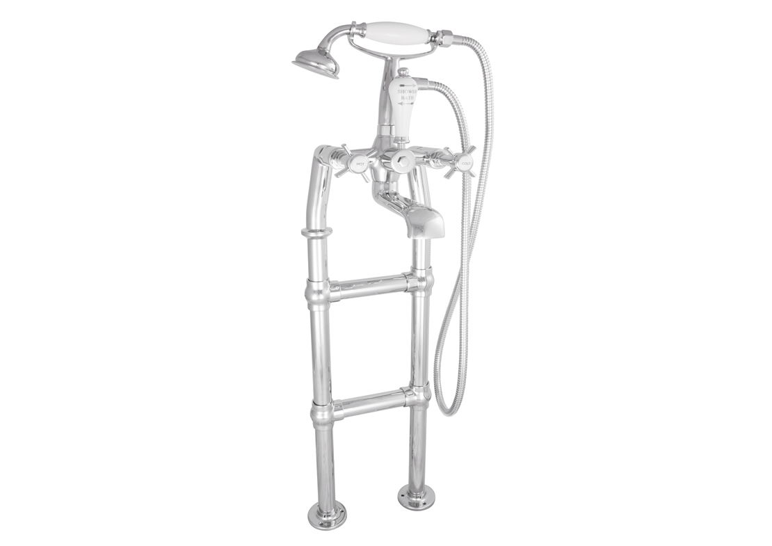 freestanding bath mixer taps chrome 580mm Thumb