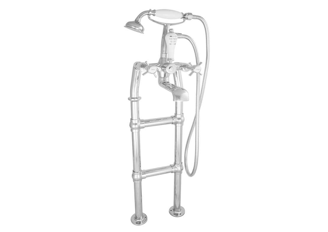 freestanding bath mixer taps chrome 580mm