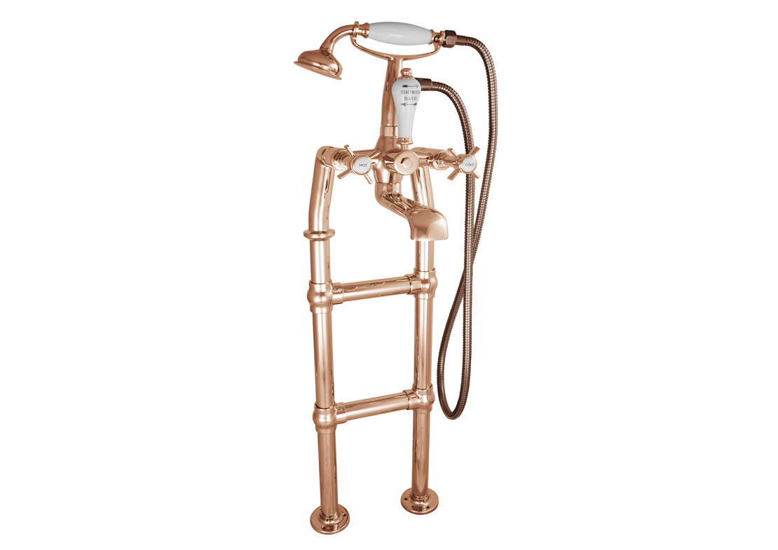 freestanding bath mixer taps copper 580mm Thumb