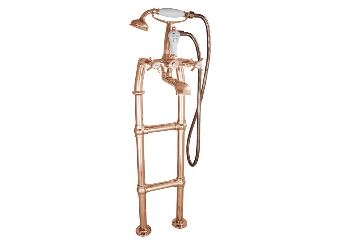 freestanding bath mixer taps copper 700mm Thumb