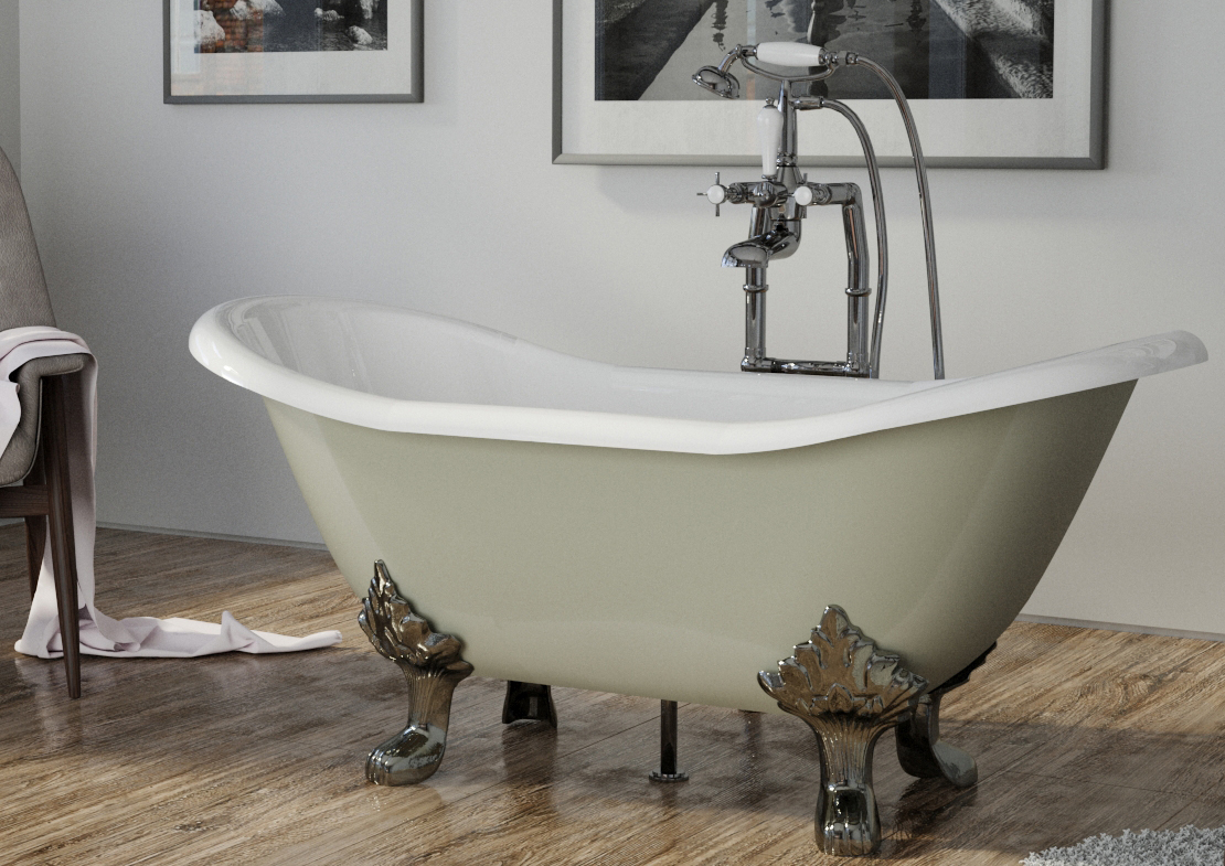 byron cast iron bath painted Thumb