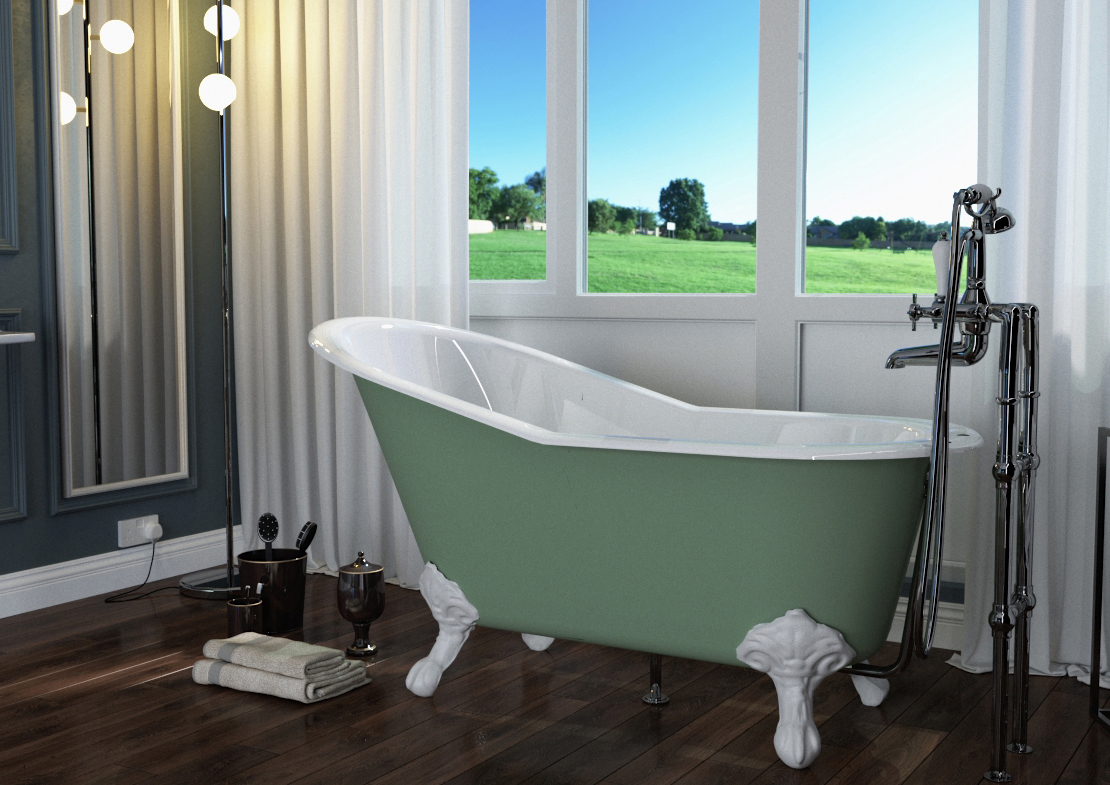 marlowe cast iron bath painted Thumb