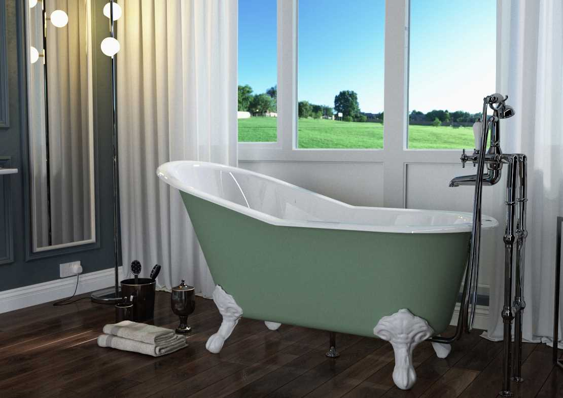 marlowe cast iron bath painted